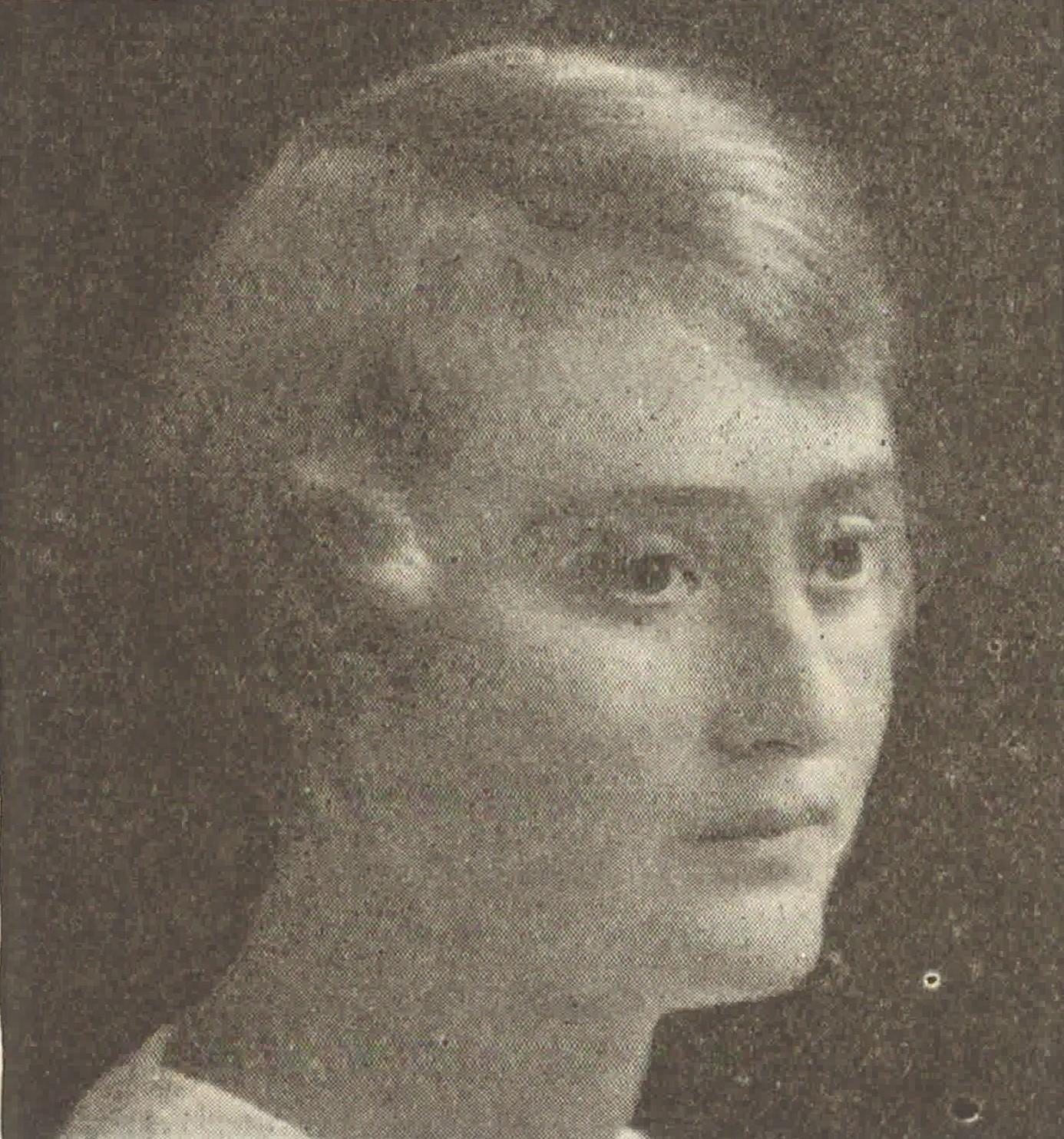 Elsa Elliot-Lund avbildad i tidskriften Charme, nr 1, 1925. Fotograf okänd