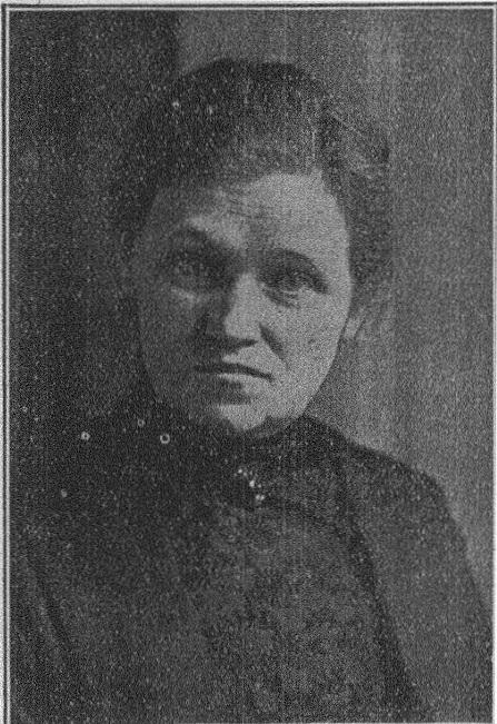 Elin Engström i Morgonbris nr 1, 1920. Fotograf okänd (KvinnSam, Göteborg universitetsbibliotek)