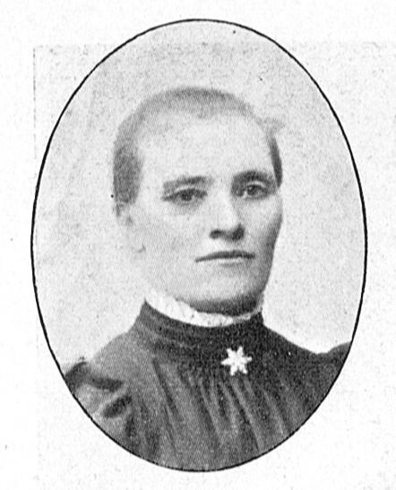 Lovisa Engvall in Ohldén, Amandus (ed), Bildergalleri ur Svenska missionsförbundet, Lindblad, Köping, 1906-1908. Photographer unknown