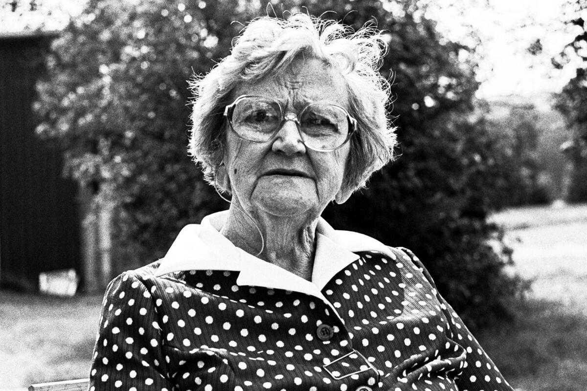 Ellen Eriksson, year unknown. Photo: Anne-Marie Evers, Värmlands Folkblads arkiv (VF/ARKIV)