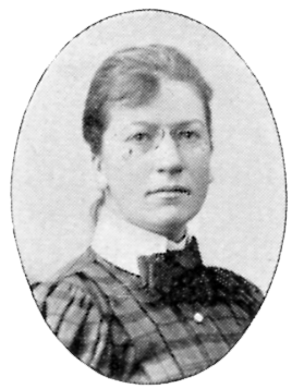 Eva Bagge. Photographer unkonown, from Svenskt Porträttgalleri XX - Arkitekter, Bildhuggare, Målare, m.fl, 1901.