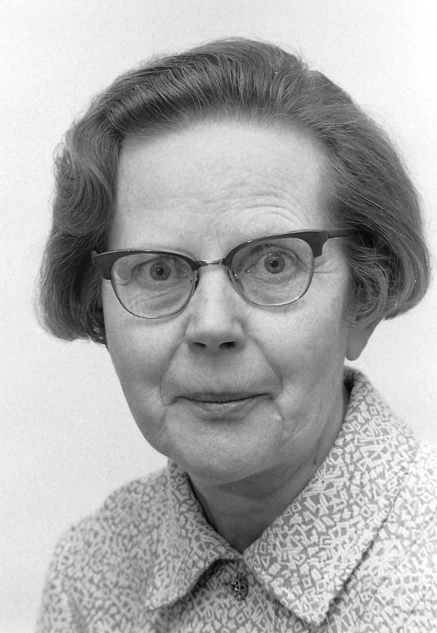 Margit Friberg, circa 1960s. Photo: Tor Wiklund (privately owned image)