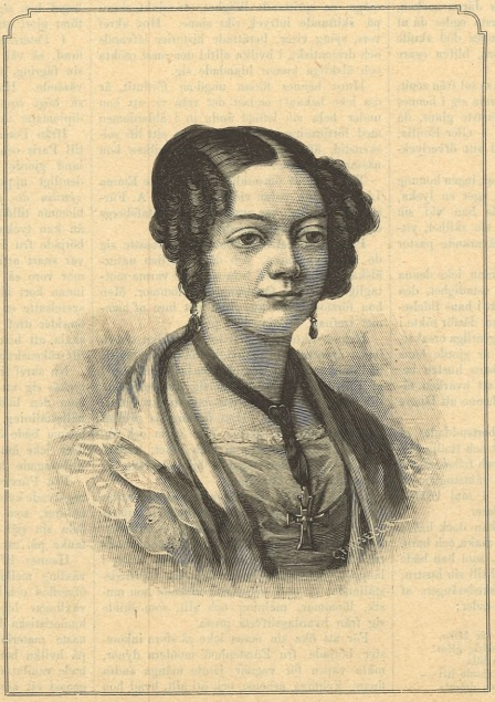 Emma Fürstenhoff in Idun nr 32, 1890. Wood engraving based on an oil painting by unknown artist (Gothenburg University Library)