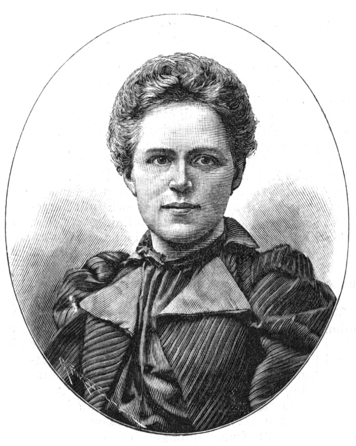 Jane Gernandt-Claine. Woodcut by Gunnar Forssell (1859-1903) in Idun nr 4, 1894 (Wikimedia Commons)