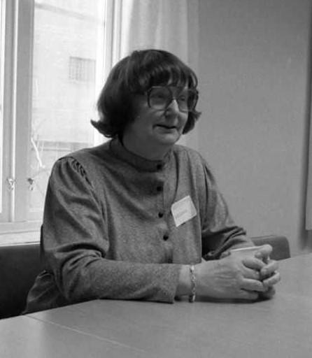 Ingrid Gottfries, 1984. Photo: Sjukhusfotograferna i Lund (Sydsvenska Medicinhistoriska Sällskapet - cropped)