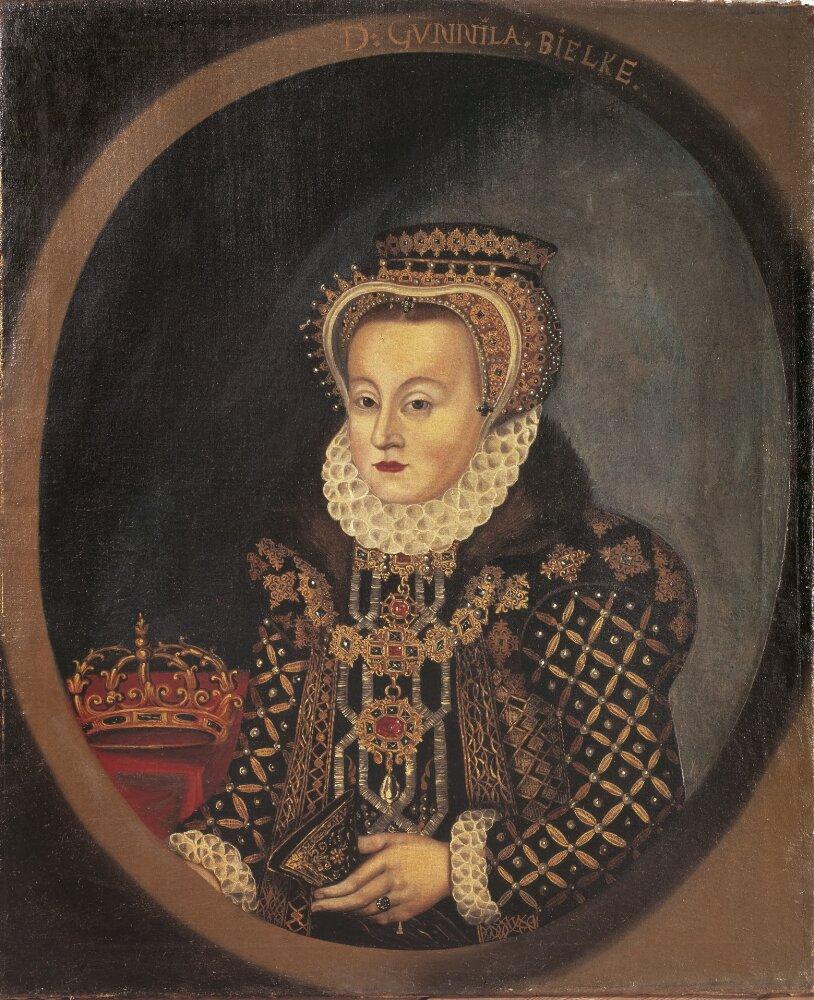 Queen Gunilla. Portrait (oil on canvas, year unknown) by unknown artist. Nationalmueum, NMGrh 432