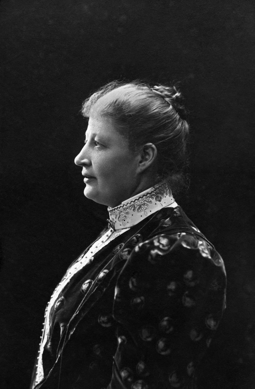 Länsmejerskan Anna Gustafsson. Fotograf: Henny Tegström, ca 1910 (Luleå kommuns historiska bildarkiv)