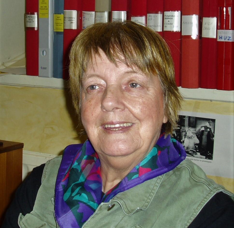 Zaida Hagman, 2003. Photo: Anette Hagman (privately owned image)