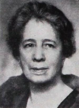 Alma Hedin in Stockholms stadsfullmäktiges sjuttiofemårsjubileum, 1913-1938, Stockholm 1938. Photographer unknown (Stockholms stadsarkiv, SE/SSA/Biblioteket/123:1:83)