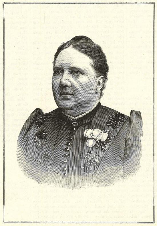 Sophie Hermansson in Idun nr 47, 1892. Artist unknown (KvinnSam, Göteborgs universitetsbibliotek)