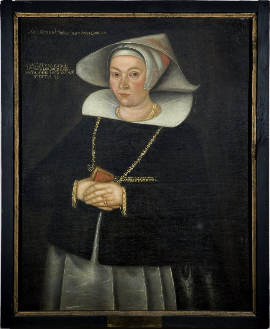 Portrait of Magdalena Hising, circa 1643-1644, attributed to Johan Friitz (1619-1672). Photo: Lasse Fredriksson (Västerås stad)