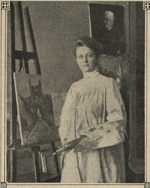 Gerda Höglund in i Idun nr 8, 1913. Photographer unknown (KvinnSam, Gothenburg University Library)
