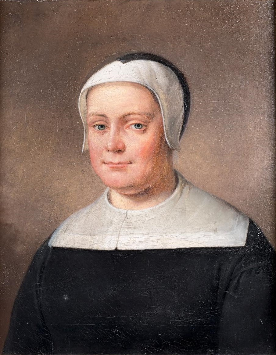 Fantasiporträtt (olja på duk, 1858) föreställande Margareta Huitfeldt, utfört av Gustav Brusewitz (1812-1899). Göteborgs stadsmuseum, GM_27486
