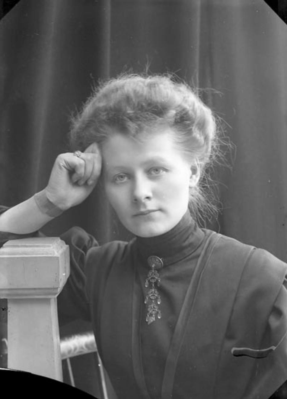 Ingeborg Enander. Self-portrait, 1909 (Bohusläns museum)