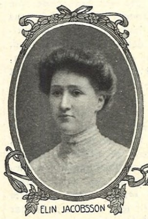 Elin Jacobsson in Idun nr 19, 1907. Photographer unknown (KvinnSam, Gothenburg University Library)