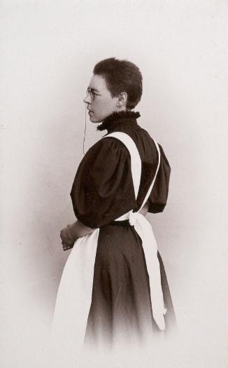 Lina Jonn. Assumed self-portrait, dated 1897. Kulturen in Lund, KM 95382