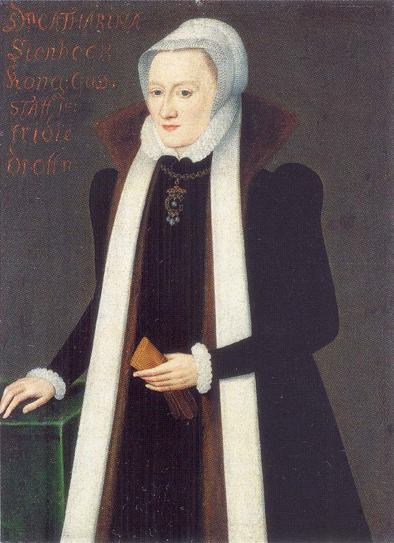 Queen Katarina of Sweden, portrait by Johan Baptista van Uther, 1552. Image source: Wikimedia Commons