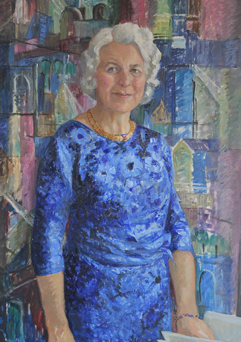 Maj Kullenberg. Portrait by Saga Walli (1891-1975). Göteborgs Kvinnliga Diskussionsklubb