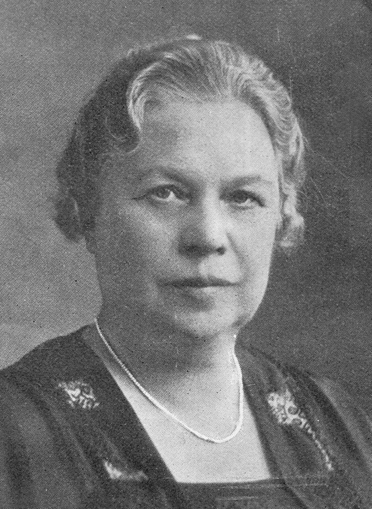 Thyra Kullgren avbildad i Idun, 1931. Fotograf okänd. Bildkälla: Svenskt Porträttarkiv (CC-BY-SA 4.0)