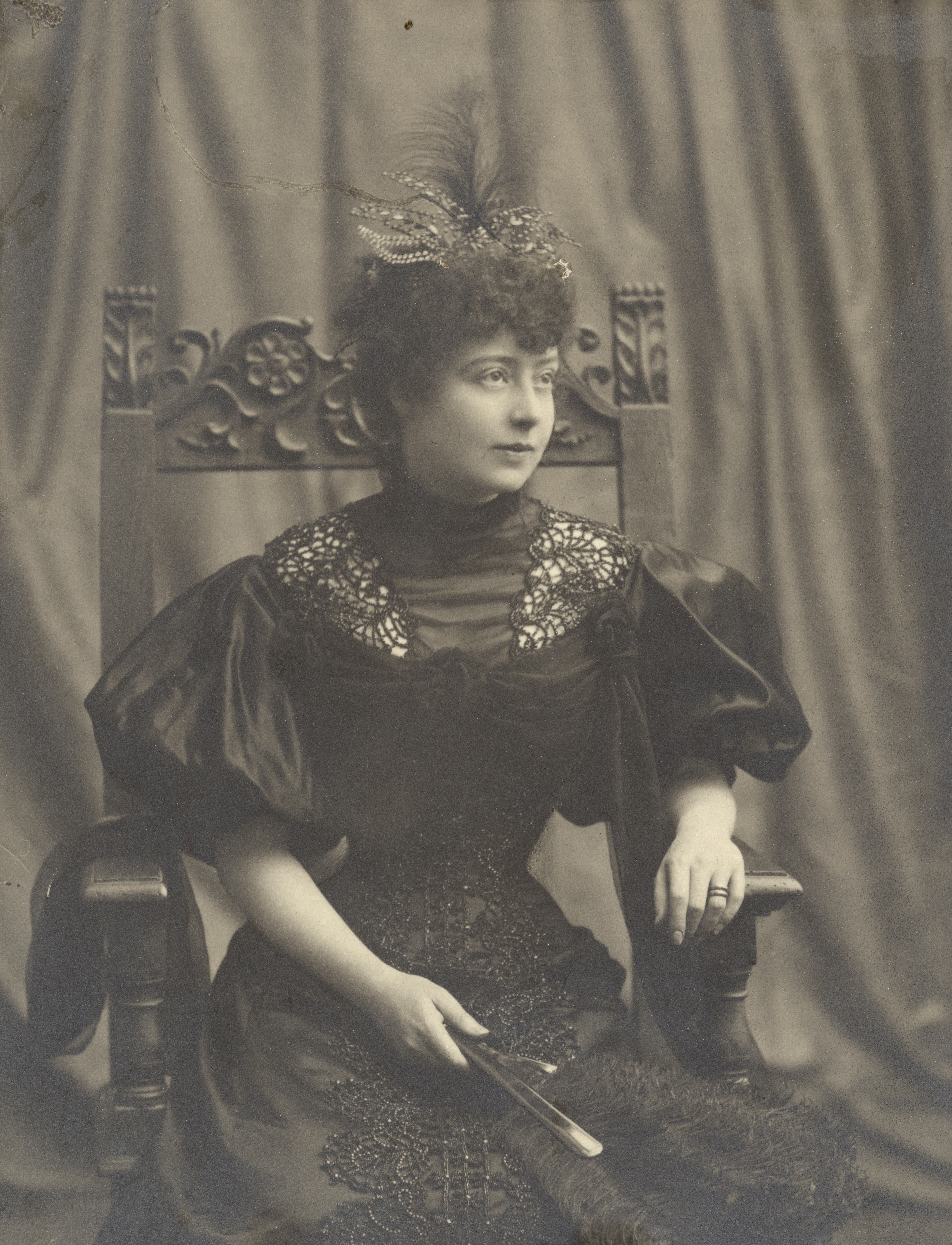 Lucie Lagerbielke. Photographer and year unknown (Privately owned image. Copy by Per Myrehed)