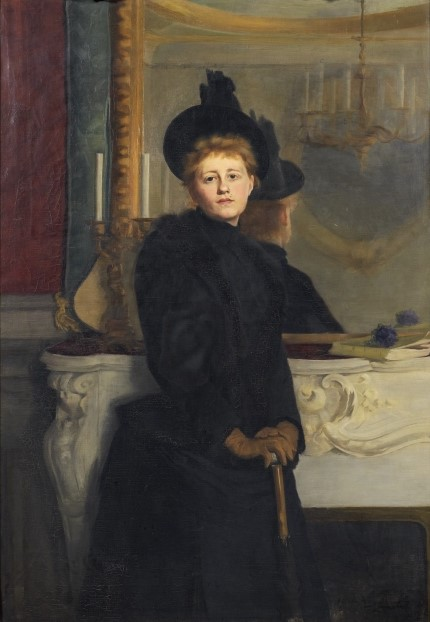 Ava Lagercrantz. Self-portrait, oil on canvas, 1889. Nationalmuseum (photo: Anna Danielsson – cropped)