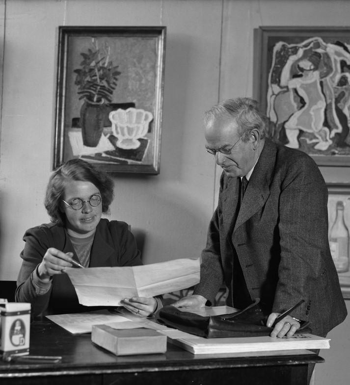 Marita Lindgren-Fridell and Bernhard Berg, 1941. Photo: Paul Sandberg (1891-1951). Upplandsmuseet, PS05420