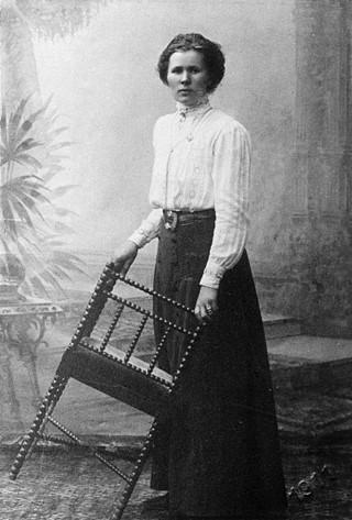 Ulrika Lindholm, år okänt. Foto: Elin Rosdahl (1866-1940). Stiftelsen Jamtli (JLM 01X15 3)