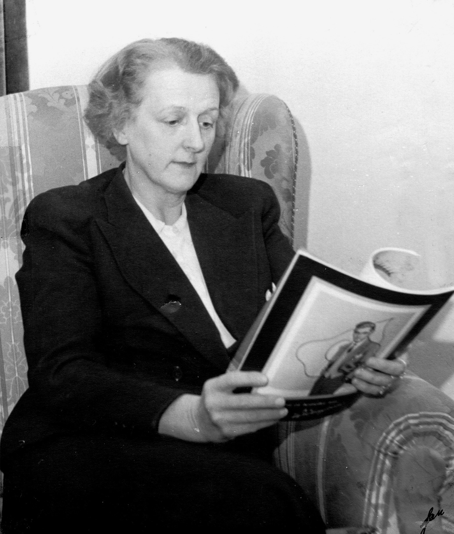 Brita Lüning-Malmstedt, circa 1950. Photographer unknown (privately owned image)