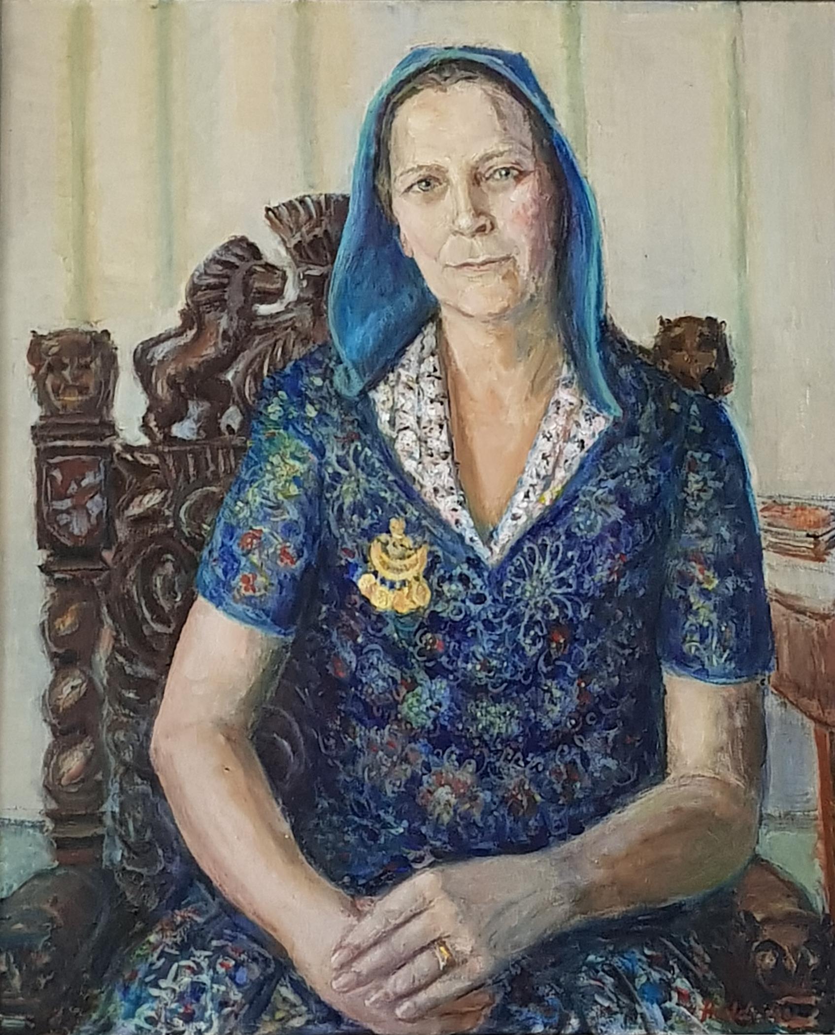 Magda Boalt, porträtt i familjens ägo, av Edward Hald