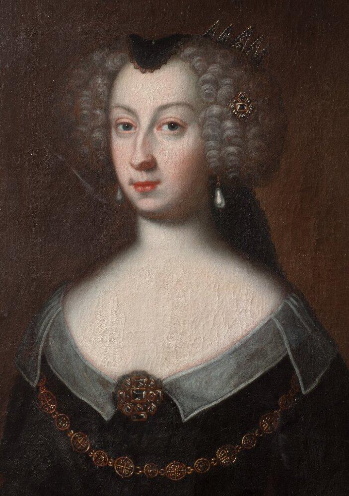 Porträtt (olja på duk) av Maria Eleonora. Konstnär och år okänt. Foto: Hans Thorwid/ Nationalmuseum (NMGrh 433)
