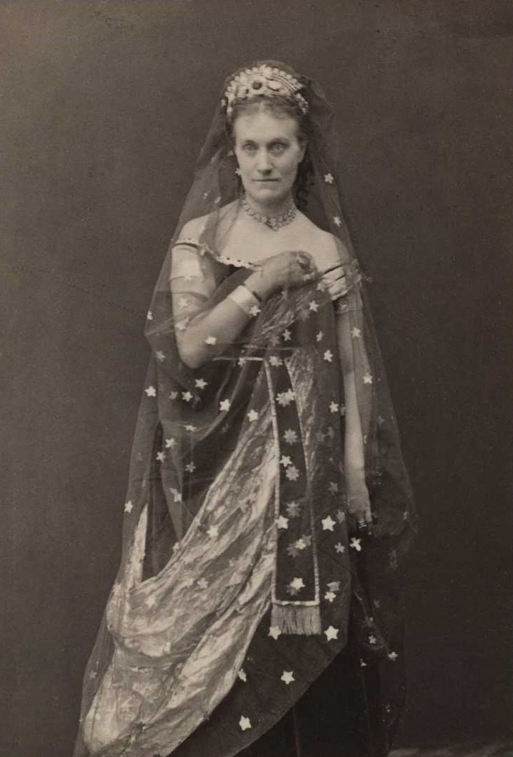 Louise Michaëli as the Queen of the Night in Mozart's The Magic Flute, at the Royal Swedish Opera, 1871. Photo: Selma Jacobsson (1841-1899). Swedish Performing Arts Agency (H6_067)