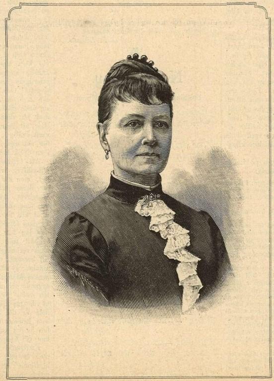 Laura Netzel avbildad i Idun nr 4, 1891. Fotograf okänd (KvinnSam, Göteborgs universitetsbibliotek)