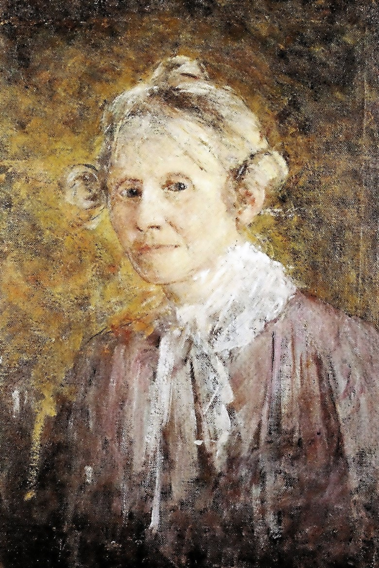 Anna Nordgren, self-portrait (oil on canvas). Year unknown (privately owned artwork)