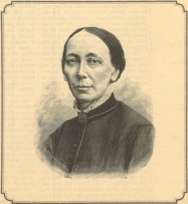 Regina Pallin in Idun nr 23, 1889. Artist unknown (KvinnSam, Gothenburg University Library)