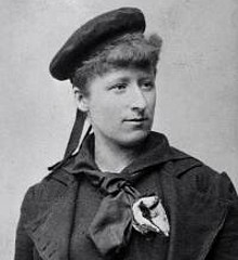 Anna Palm de Rosa in seaman costume, circa 1880. Photo: Robert Roesler (Stockholm City Museum; Wikimedia Commons)