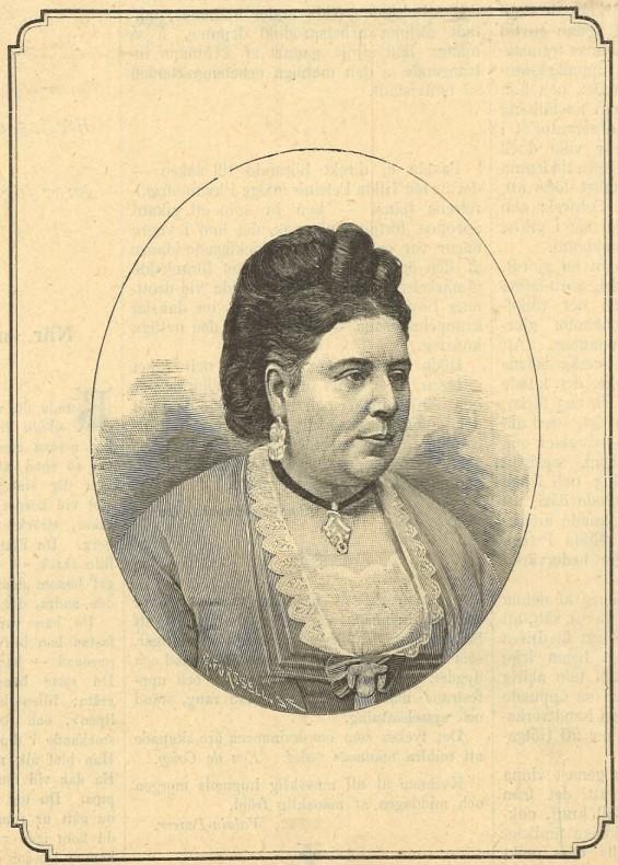 Hilda Petrini in Idun nr 7, 1890. Photographer unknown (KvinnSam, Gothenburg University Library)