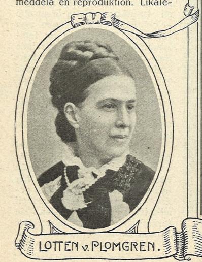 Lotten von Plomgren på framsidan av Idun nr 17, 1914. Fotograf okänd (Göteborgs universitetsbibliotek)