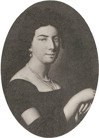 Porträtt of Caroline Ridderstolpe by unknown artist (signature I.H), 1815. Image source: Wikimedia Commons