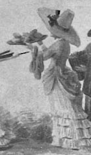 Detail of watercolour painting by Rudolf Bagge, 1883, depicting Elise Sahlqvist, on of only two known depictions of her. Photo: B Hakelier, 1883 (printed in Kumla Julblad, 1964)