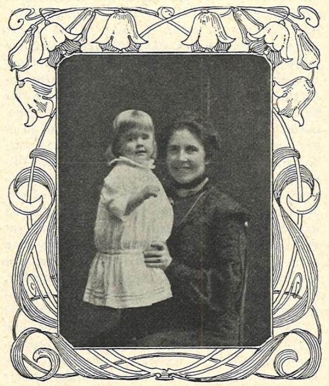 Signe Salén avbildad med ett barn i Idun nr 50, 1906 (KvinnSam, Göteborgs universitetsbibliotek)