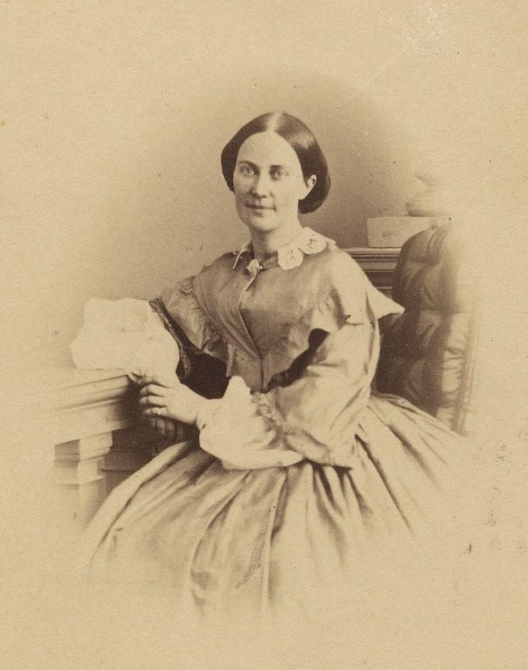 Emma Schenson, circa 1865-1875 (Uppsala Universitetsbibliotek)