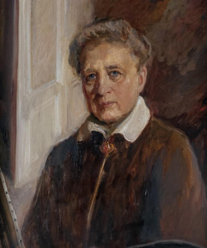 Ida von Schulzenheim, portait (oil on canvas) by Elisabeth Barnekow (1874-1942), year unknown. County Museum of Gävleborg (XLM.09355)