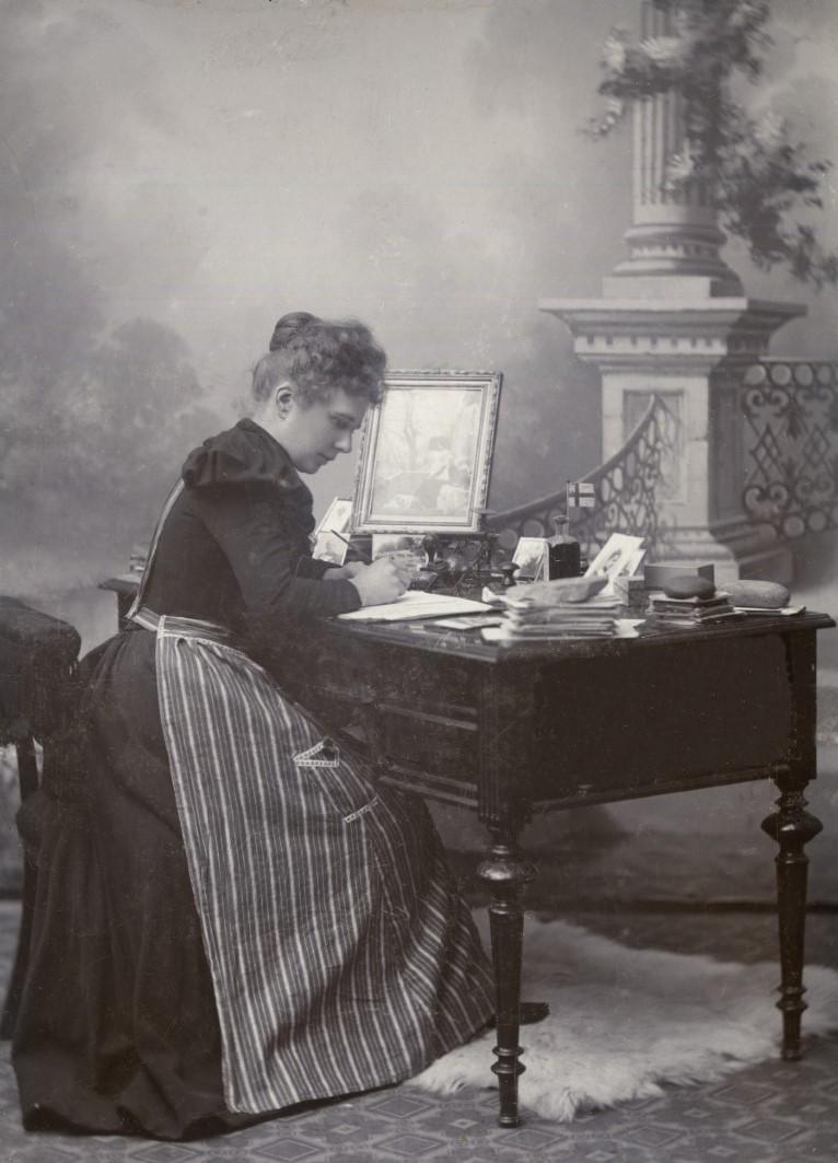 Olga Segerberg, 1890. Photo: Olof Andersson (1835-1901). Arvika kommuns historiska bildarkiv, 013532