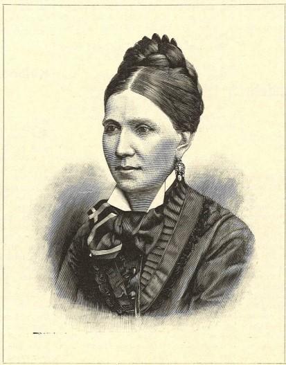 Leonilda Sjöström avbildad i Idun nr. 10, 1898. Konstnär okänd (Göteborgs universitetsbibliotek)