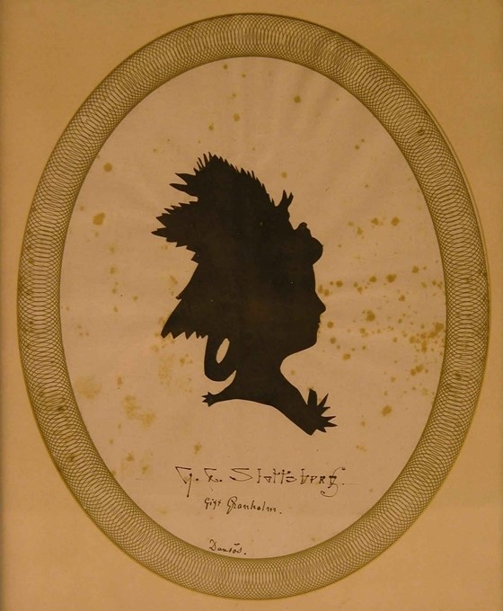 Silhouette of Charlotta Slottsberg. Artist and year unknown (Helledays samling, Swedish Museum of Performing Arts)