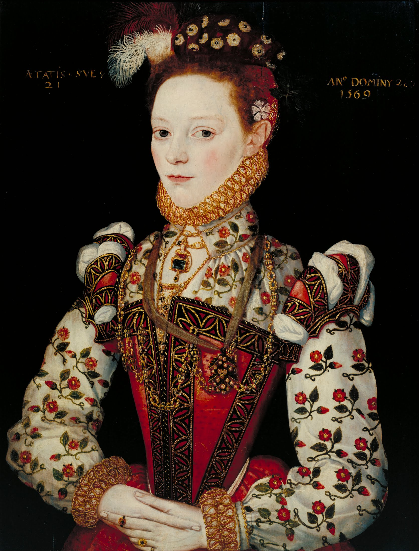 Portrait possibly depicting Helena Snakenborg. Artist unknown, 1569. Source: Wikimedia Commons