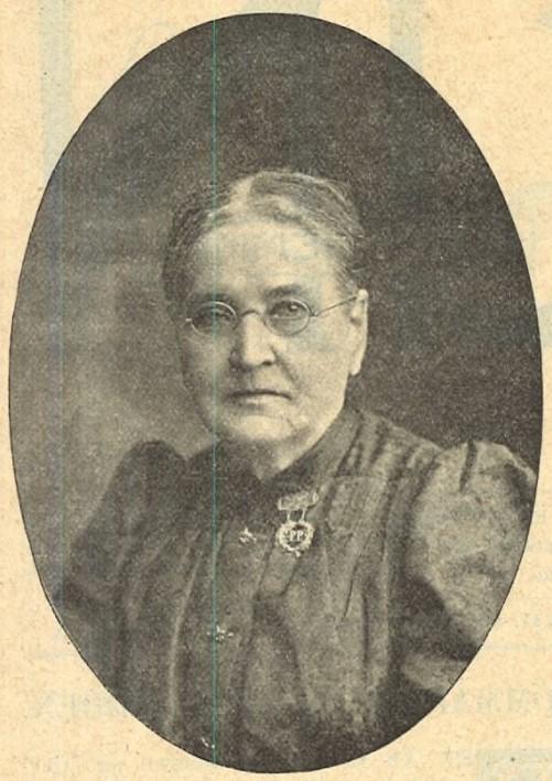 Emily Spörck in Idun nr 28, 1901. Photographer unknown (KvinnSam, Gothenburg University Library)
