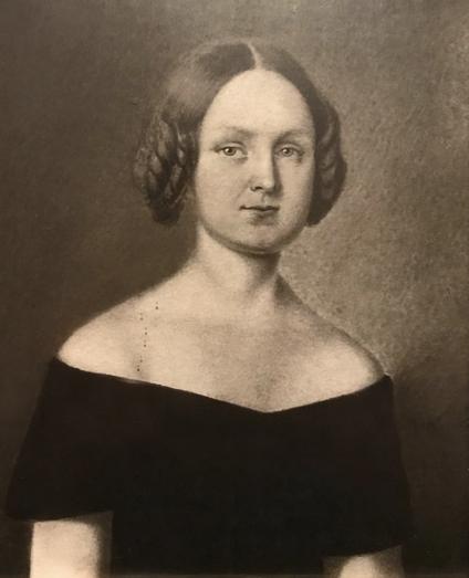 Porträtt av Fanny Stål. Konstnär och år okänt (i privat ägo). Foto: Viktor Westergren