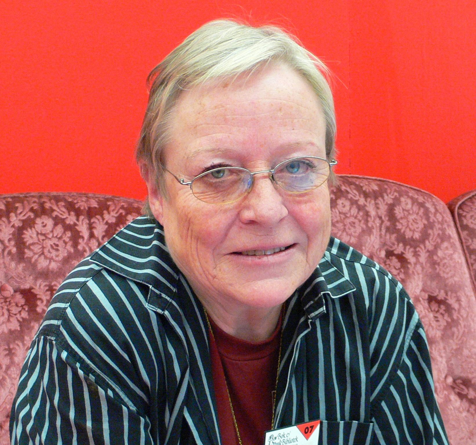 Yrsa Stenius at the Gothenburg Book Fair, 2007 (Wikimedia Commons, Hannibal)