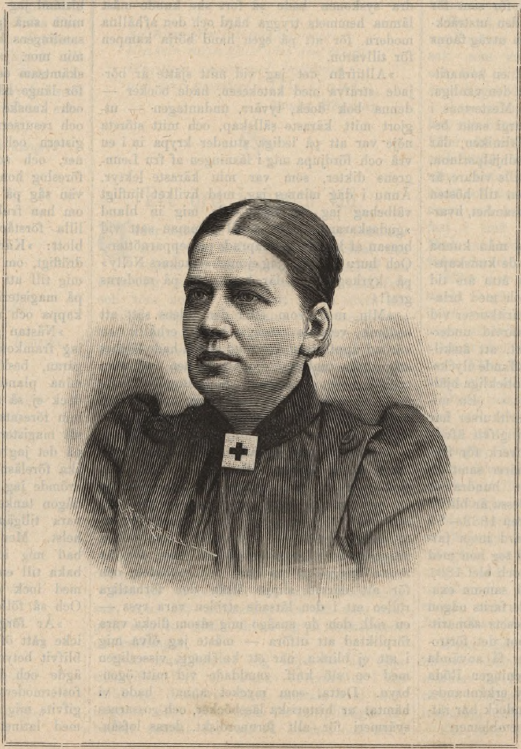 Portrait of Amelina Sterky in Idun, nr 11, 1893. Illustrator unknown (Gothenburg University Library)